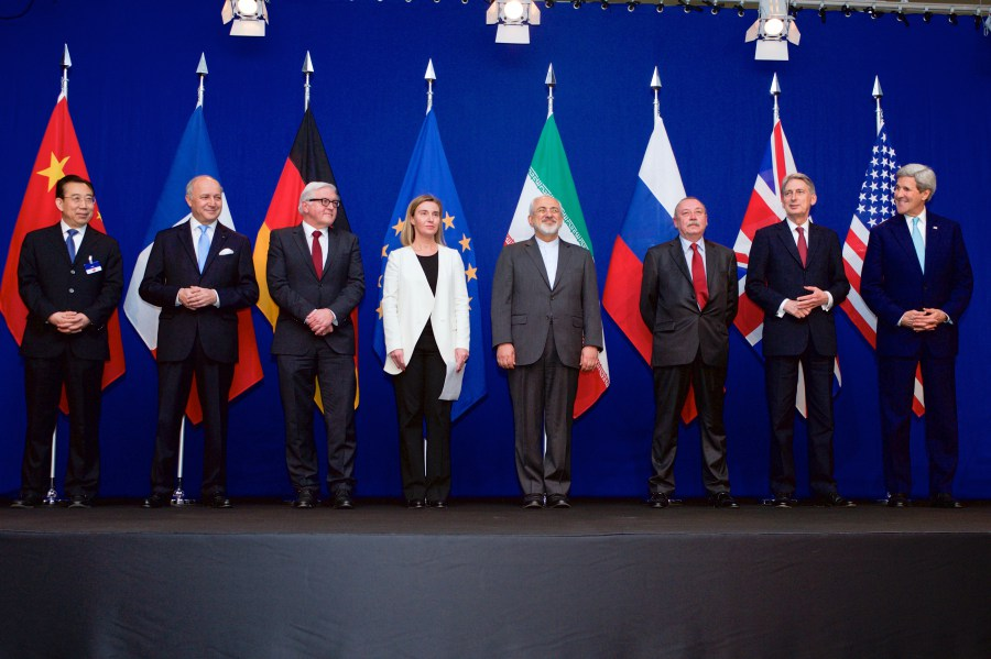 Negotiations about Iranian Nuclear Program - the Ministers of Foreign Affairs and Other Officials of the P51 and Ministers of Foreign Affairs of Iran and EU in Lausanne